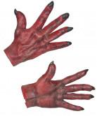 Djävulshänder Röda Vuxen Halloween