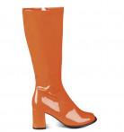 Orangea lackstövlar