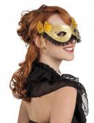 Guldig mask för vuxen