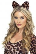 Hårband med rosett leopard