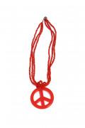 Rött Hippiehalsband