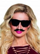 Svarta glasögon med mustasch