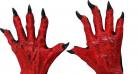 Korta djävulshandskar vuxen Halloween