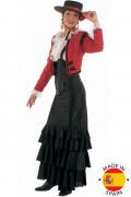 Kostym med en fläkt av Malaga dam