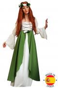 Förträfflig medeltida klänning i grönt - Maskeradkläder för vuxna