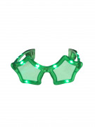 Gröna stjärnformade LED glasögon