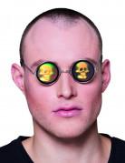 Runda glasögon med dödsskallar