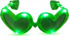 Gröna hjärtformade LED glasögon