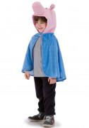 Blå kappa med grishuvud