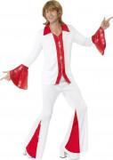 Maskeraddräkt disco röd och vit man