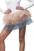 Regnbågsfärgad ballerinakjol med paljetter dam