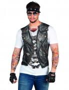 T-shirt motorcykel väst med tatueringar vuxen