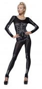 Skelettprint - utklädnad vuxen Halloween
