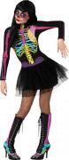 Färggrant skelett med tyllkjol - Halloweenkostym för vuxna