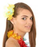 Hårspänne med gul hawaiiblomma