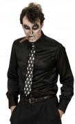 Slips med skelett vuxen Halloween