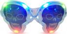 Lysande döskalleformade glasögon