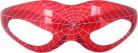 Röda, lysande glasögon med spindelnätsmönster