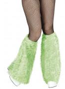 Gröna benvärmare i låtsaspäls