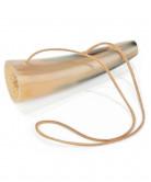 Blåshorn 15 cm med skinnsnöre