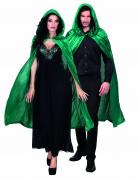 Kape grön velourseffekt 120 cm vuxen Halloween