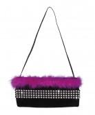 Chaleston  Väska  svart och rosa
