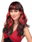 Peru Svart hår med röda slingor
