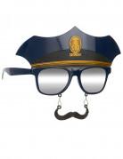Polisglasögon med Mustach Vuxen