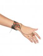Armband och ring med röda ädelstenar för vuxna