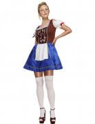 Blå Oktoberfestklänning