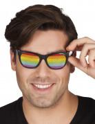 Glasögon i regnbågens färger