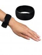 Brett armband Svart