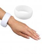 Brett armband Vit