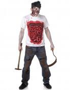 Zombiedräkt med tarmar Halloween