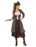 Brun piratkapten - utklädnad vuxen