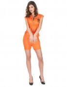Kostym som intern i sexiga orange shorts dam