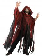 Mantel röd och svart Halloween vuxen