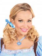 Sött halsband med vitblåa rutor - Oktoberfesttillbehör