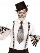 Svarta hängslen med kors - Halloweentillbehör