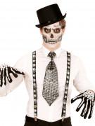 Hängslen i spindelvävsmotiv - Halloween tillbehör