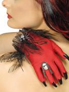 Fröken djävul - Halloweenhandskar med smycken och klor