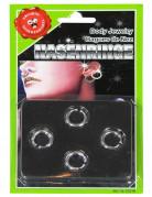 Piercingkit med 4 kroppssmycken