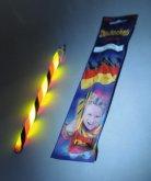 Glow stick i svart rött och gult 20 cm