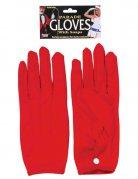 Röda handskar i kort modell - Maskeradtillbehör