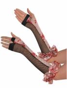 Tjusiga blodfläckade handskar till Halloween för vuxna