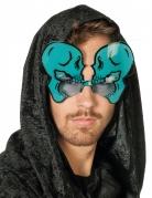 Självlysande glasögon med blåa skelett - Halloweentillbehör